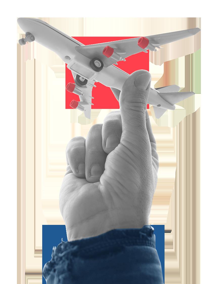 Mão com Avião